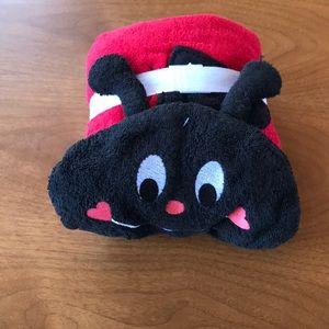 NWT Ladybug hooded towel